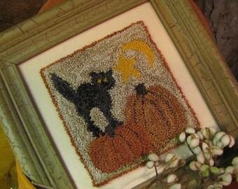 Primitive Punchneedle That Old Black(cat)Magic Pattern