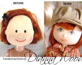 Madeline Doll Transformed, Doll changed, makeover dolls Paris house trunk