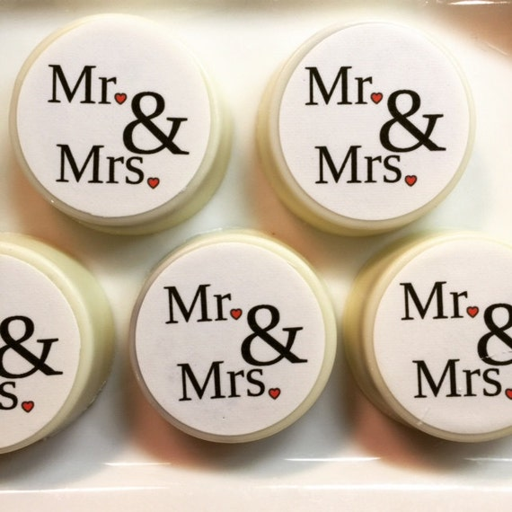 12 Mr And Mrs Personalized Oreos Cookies Wedding Favors Bridal