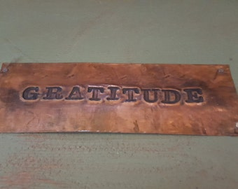 Gratitude Box, Rustic Keepsake Box, Handmade Keepsake Box, Cabin Decor-Gratitude, Gratitude, Gift Of Gratitude, Wood/Copper Box, JewelryBox
