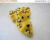 ON SALE - 10% OFF Crochet toy..Animal pillow...Leopard stuffed soft ......Large