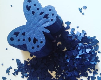 50, deep BLUE, deep Blue with shimmer,shimmer, dark Blue, royal blue,butterflies, paper, scrap booking, wedding, by DoodleDee2 on etsy