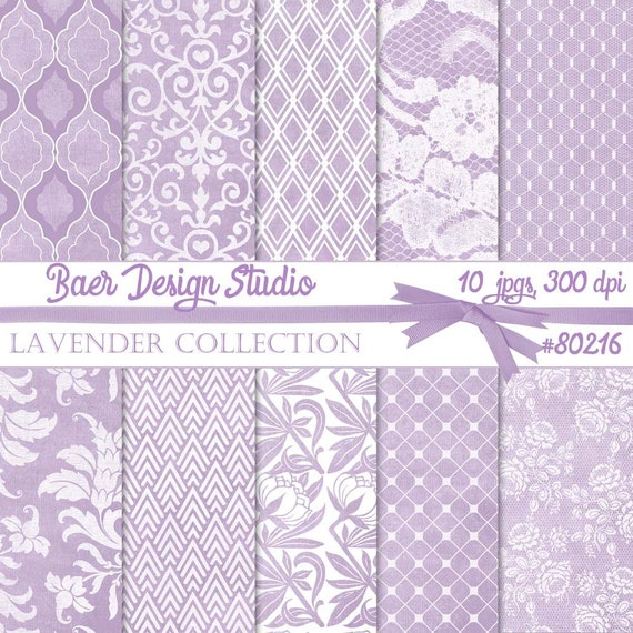 SHABBY CHIC Digital PAPER, Lavender Digital Paper, Lavender Lace Digital Paper, Digital Scrapbook Paper, Lavender Paper,  #80216