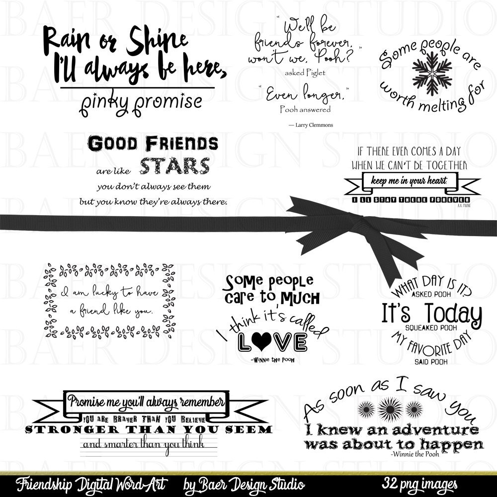 Speak Quotes And Page Numbers: Word Art Clipart, Printable Quotes, Friendship Quotes