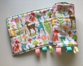 Forest Animals Suck/Drool Pad Strap Cover Reversible with Minky // In Stock READY TO SHIP