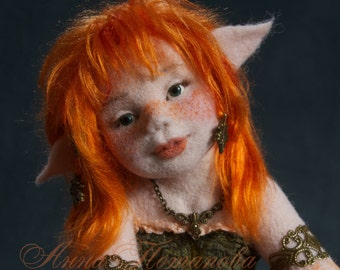 Needle felted doll Elf Anariel, Art Doll, Autor doll, Collectible doll, Interior doll, Figurines, Sculpture, Handmade doll, OOAK doll