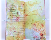 Traveler's Notebook Insert and Dashboard Set, Watercolor Floral Design