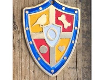 Pet ID Tag, Colorful Dog Tag - Custom Cut Dog Tag, Shield Dog Style Pet Tag, Coat of Arms Pet ID Tag