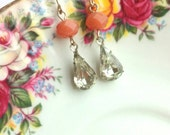 Pretty dingly dangly glass stone earrings