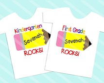 School Rocks Your choice of grade Digital Download for iron-ons, heat transfer, Scrapbooking, Cards, Tags, Signs, DIY, YOU PRINT