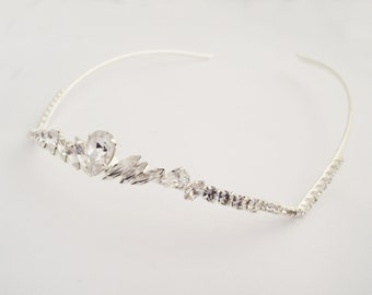 Wedding Crown, Wedding Tiara, Bridal Hair Accessories, Silver Tiara, Bridal Headpiece, Bridal Tiara, Swarovski Crystal Tiara, Crystal Tiara