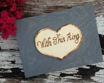 ring box, with this ring, wedding ring box