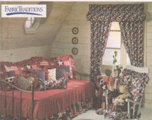 Simplicity 9176 1990s Sewing Pattern Home Decor Fabric Traditions Curtain Pillow Neck Roll Heart Rocking Chair Cushion Hassock Cover