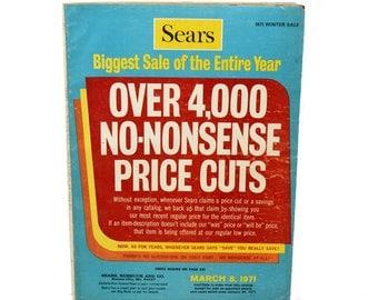 1971 Sears Catalog, Vintage Sears Winter Sale Catalog, 1970s Fashion, Dinnerware, Fabric, Nursery Decor, Typewriters, Paper Crafts, Ephemera