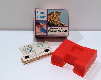 Wonders of the Animal World  Stereo Viewer Vintage Stori Views ( 11 ) Animal Slides 3 D Card English Spanish Chicago Natural History Museum
