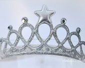 Silver Mermaid Princess Crown - Baby Tiara - Newborn Crown - Gold Crown - First Birthday Crown - Baby Headbands - Princess Crown Headband