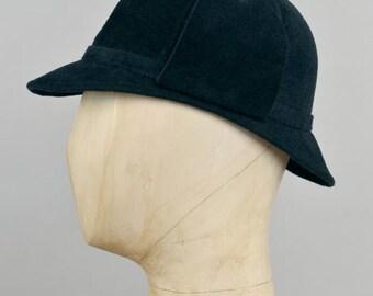 Sherlock Holmes deerstalker hat in navy midnight felt
