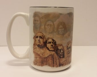 Great Indian Chiefs by David C. Behrens Coffee Mug, Tea Mug - Dakotas, Souvenir, Native Art, Presidents