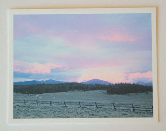 Colorado Sunset, note card, beautiful, blank greeting card, sunset photos, fine art, single card, photo greeting card, colorful, brilliant