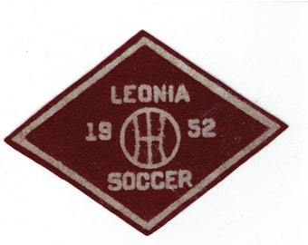 Vintage Felt Patch Leonia 1952 Soccer New Jersey? NJ
