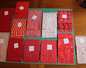 "4 1/2"" Squares Quilt Kit in Red and White with Orange Highlights"
