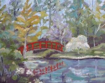 Duke Gardens / Original Landscape Oil Painting / 18 X 24 / Durham, North Carolina