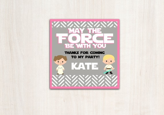 Star Wars {inspired}  Favor Tags -  Pink Space Wars Supplies