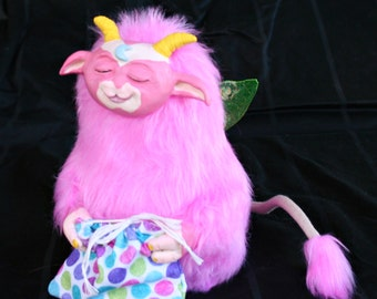 Keeple (Pink), OOAK Art Doll