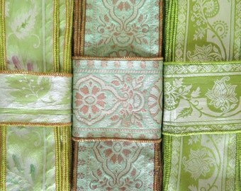 Green Silk Sari borders, Sari Trim SR451
