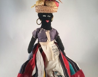 Vintage Jamacian Rag Doll 10.5 Inches Souvenir Folk Art Doll Miss May