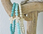 cross bracelet , beach bohemian jewelry , beach boho bracelet , beachcomber beachaccessory