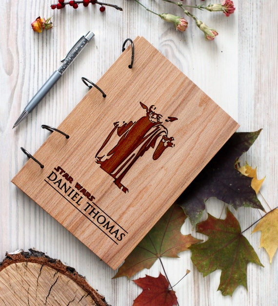 Stars Wars Wooden notebook - Stormtrooper notebook - Custom Notebook - Personalized Engraved