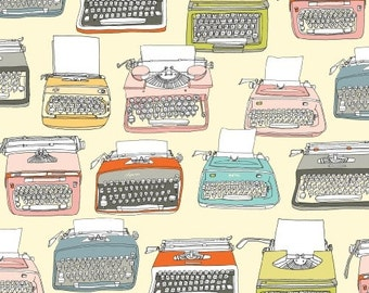 Type - Typewriters in Parchment - Julia Rothman for Windham Fabrics - 35530-X - 1/2 yard