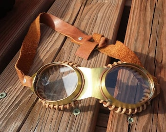 Steampunk Airship Captain Goggles