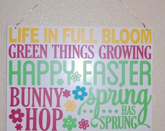 Spring~Easter vinyl sign