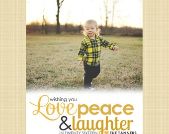 Christian New Year Photo Card, Holiday Card - Wishing you Laughter
