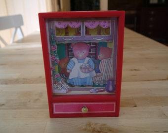 Vintage Dancing Bear Musical Box
