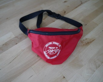 Vintage Red Boy Scouts Troop 58 PA Fanny Pack
