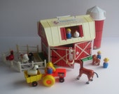 Fisher Price Vintage Little People Play Family Farm #2501-Complete