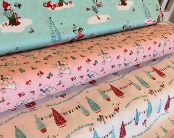 Pixie Noel Christmas fabric bundle by Riley Blake