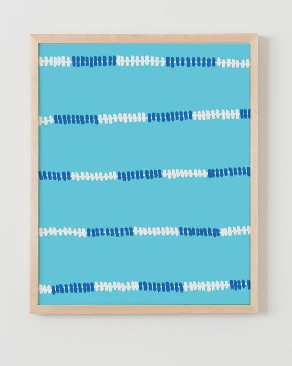 Fine Art Print.  Swimming Pool Lane Markers.  September 4, 2011.