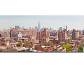 West Village, elevation, meat packing district, manhattan, panorama, panoramic, empire state building, architecture, cityscape, print