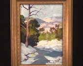 Harry G Aitken (1867-1952) Oil on Board - American Impressionist Painting Aitkin