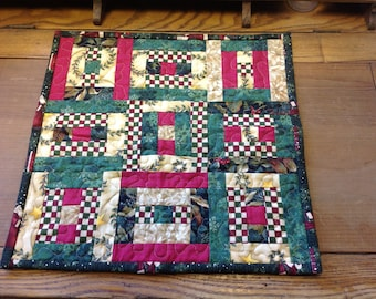 Holiday Quilted Table Topper