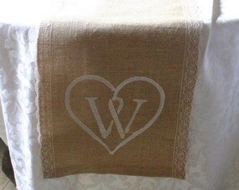 WEEKEND SALE, Burlap and lace table runners, French country weddings, shabby chic, rustic elegance