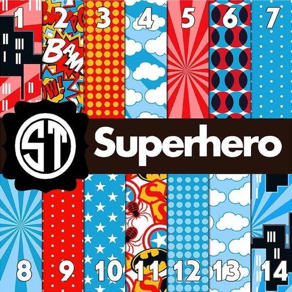 Superhero Patterns Printed Vinyl Or Heat Transfer Vinyl Iron