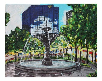 Gore Park Fountain Hamilton  Ontario Photo Print