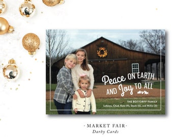 Market Fair | Peace and Love | Southern Christmas Card | Printed or Printable by DarbyCards