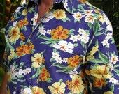 "30% OFF Rio De Janeiro ""Men's Shop"" S/S Tropical Hawaiian Vintage Shirt, size S-M, made in Brazil"