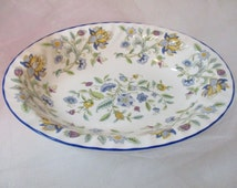 "Minton Hadden Hall blue 10"" vegetable bowl, english china, fine china, excellent condition"